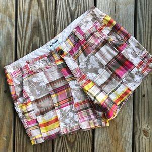 OLD NAVY | Madras Plaid Patchwork Boho Shorts 6